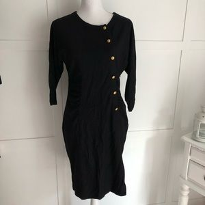 • Marc by Marc Jacobs 100% Wool Black Dress •